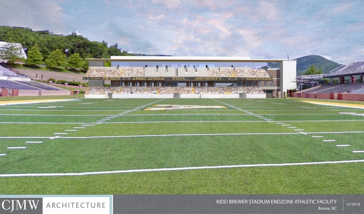 Kidd Brewer Stadium Endzone